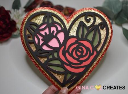 3D Mandala Valentine's day card free svg