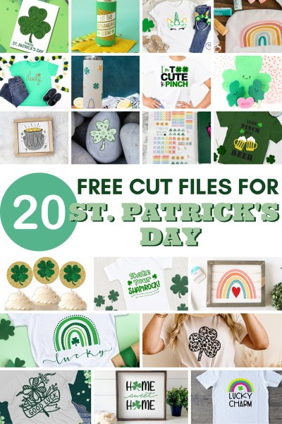 free st. patrick's day svg cut files