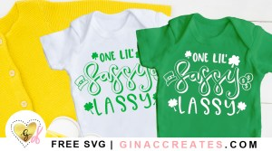 one lil sassy lassy free svg cut file, st. patrick's day svg