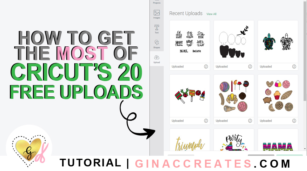 how to get more than 20 free cricut uploads