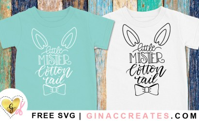 Little Mister Cotton Tail Free Easter SVG Cut File