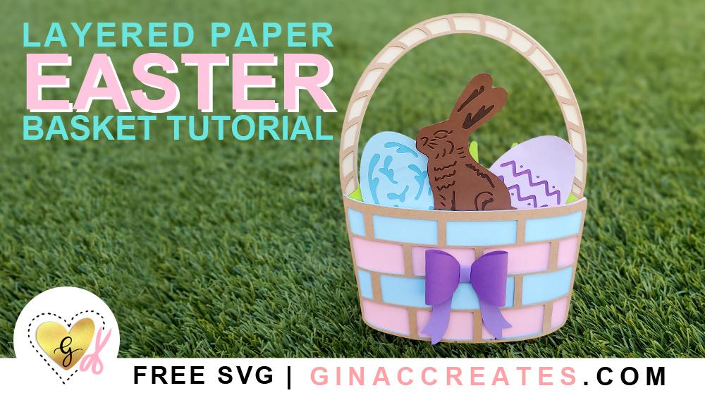 free Easter basket svg, free chocolate bunny svg