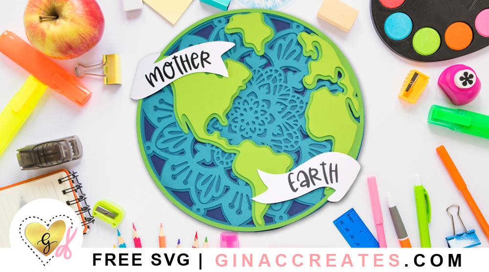 free earth day svg, layered mandala free svg