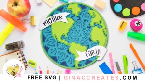free earth day svg, layered mandala free svg
