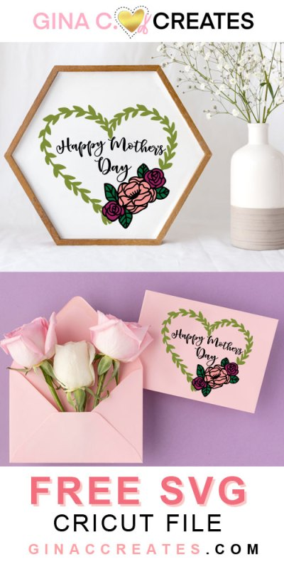 free happy mother's day svg cut file