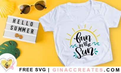 Fun in the Sun Free SVG Cut File