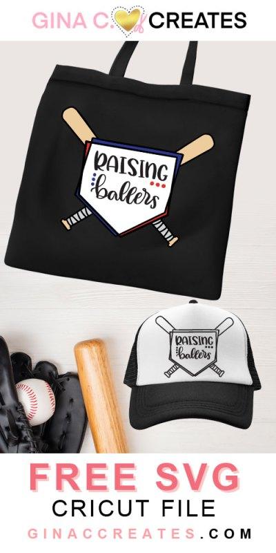 free baseball svg raising ballers