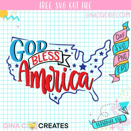 God bless America SVG 4th of July Cut files