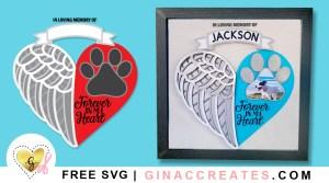free pet memorial svg, free angel wings svg, layered svg