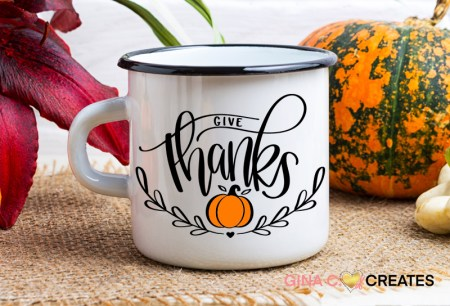 Give Thanks Thanksgiving Free SVG Files