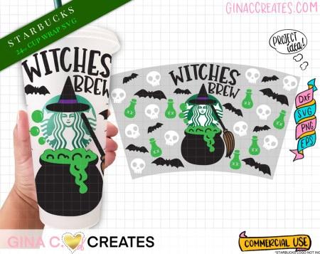 starbucks halloween cup wrap svg, witches brew