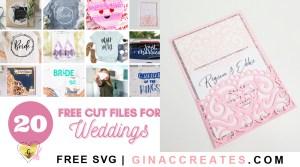 cricut wedding invitation free svg