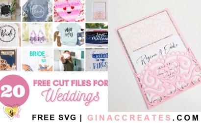 DIY Wedding Pocket Invitation Free SVG Cut File