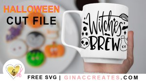 free Halloween SVG, Witches Brew SVG