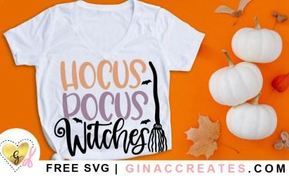 Hocus Pocus Witches Free SVG Cut File