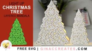 cricut christmas craft, mandala tree lights, free svg