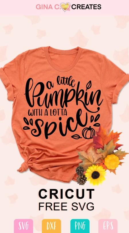 pumpkin spice free svg, cricut file