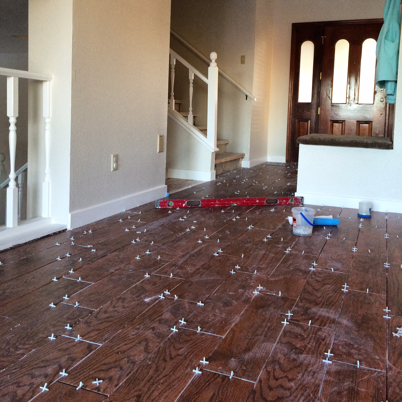 Wood tile flooring renovation diary gina demillo wagner img7059 dailygadgetfo Images