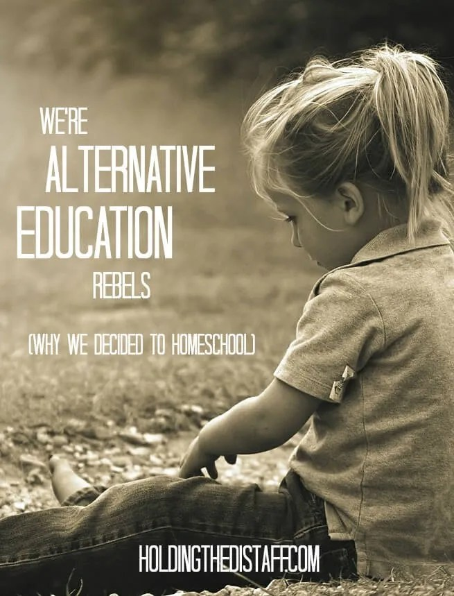 We're Alternative Education Rebels: Why our family decided to try homeschooling.