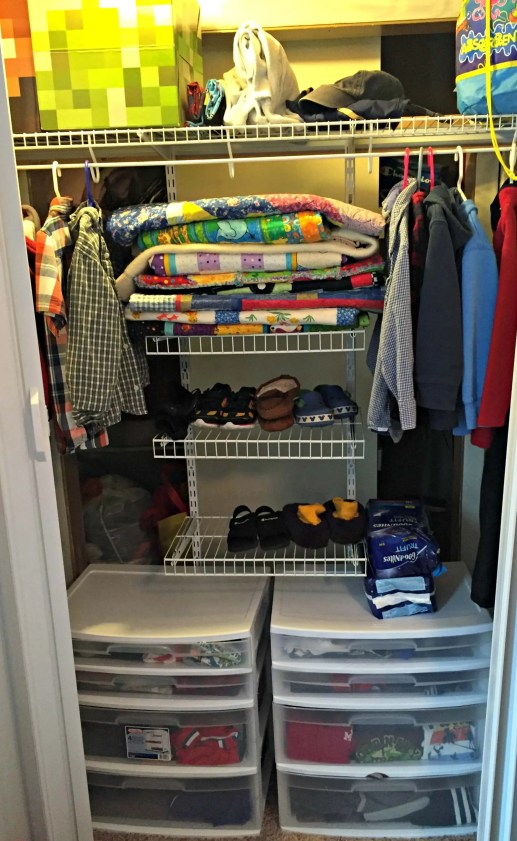 The boys' closet