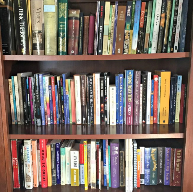 Tidy Bookshelf After KonMari Decluttering