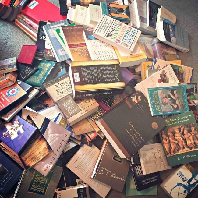 Book Pile for the KonMari Decluttering Method