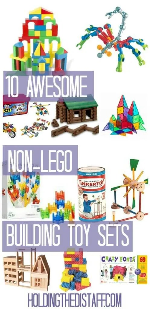 10 Awesome Non-Lego Building Toy Sets: educational gift ideas that will spark kids' creativity and other skills—perfect for Christmas gifts!