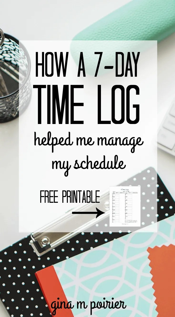 how a 7 day time log helped me get my daily schedule under control