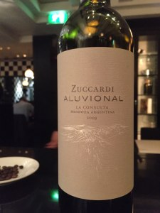 Close up shot of the Zuccardi Malbec