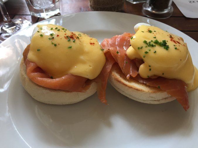 Close up shot of Eggs Royale at The Jam Tree, Chelsea