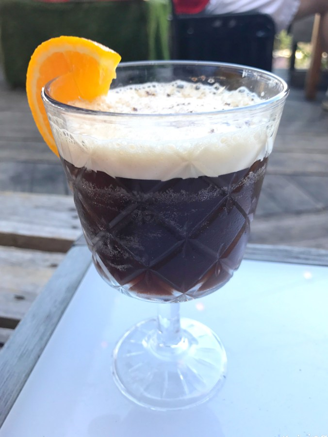 Close up shot of the Midnight Espresso, on the cocktail menu of Number 90 Bar and Kitchen