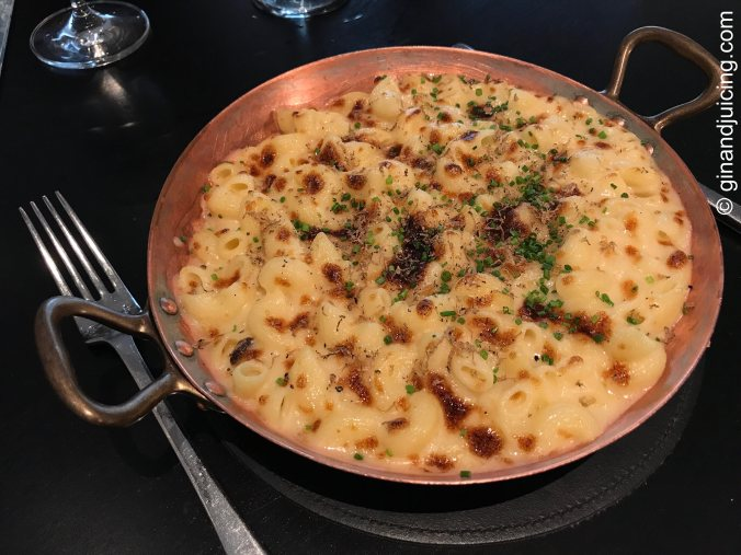 Truffle mac and cheese at Avenue restaurant St James's