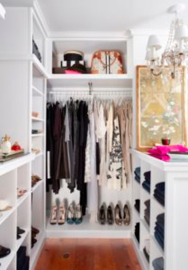 pictures of small walk in closet ideas