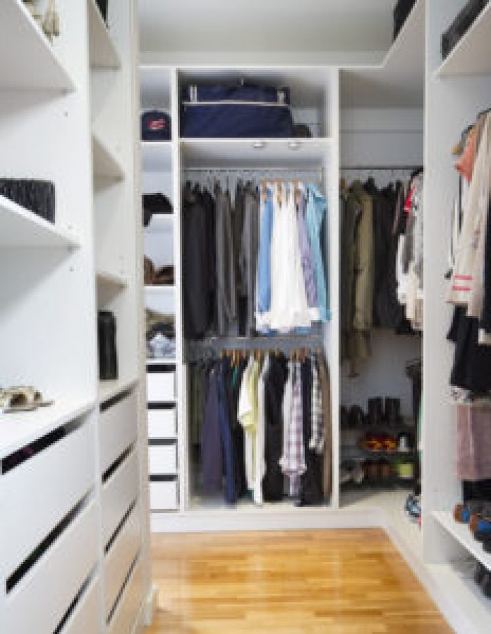 closet ideas for small walk-in closet
