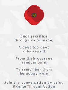 poppy USAA memorial day