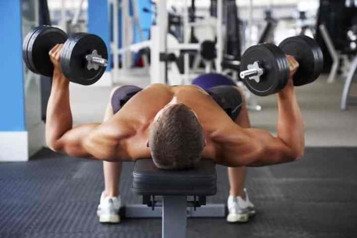 chest with dumbbells