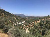 עמק התכלת-תצפית לכיוון הר מירון