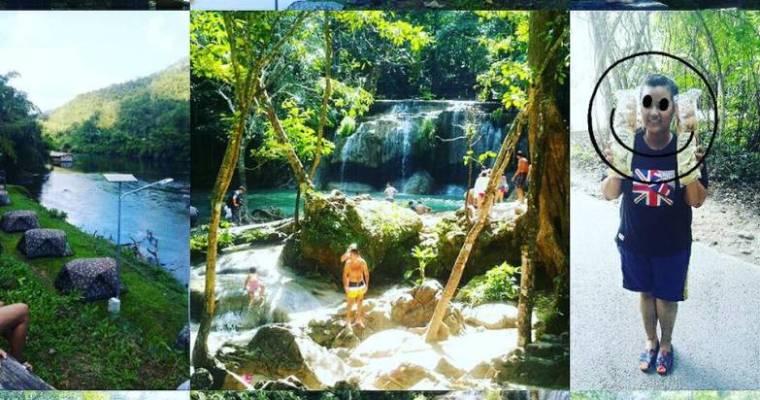 泰國自由行》北碧人間仙境 背包客的天堂 Erawan National Park 伊拉旺國家公園 七層瀑布景觀 我在泰國露營趣之好多大瀑布裡游泳、餵魚(很像韓綜花樣青春寮國取景地點)