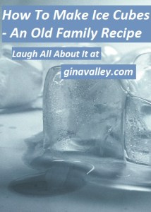 Humor Funny Humorous Family Life Love Laugh Laughter Parenting Mom Moms Dad Dads Parenting Child Kid Kids Children Son Sons Daughter Daughters Brother Brothers Sister Sisters Grandparent Grandma Grandpa Grandparents Grandfather Grandmother Parenting Gina Valley How To Make Ice Cubes - An Old Family Recipe