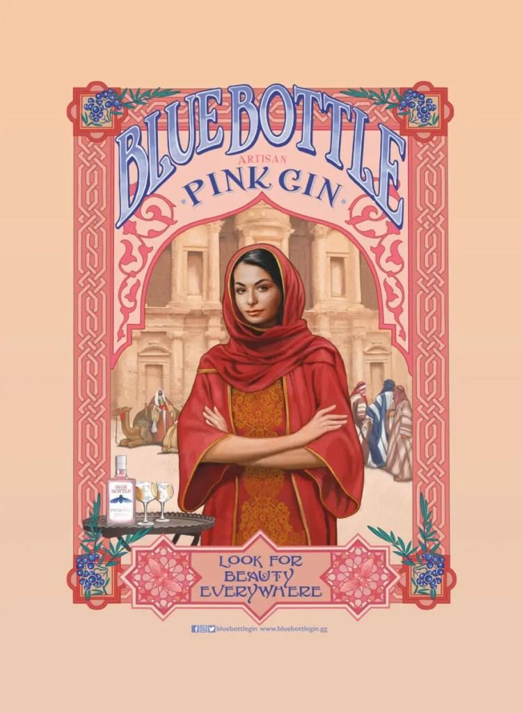 Stemningsbillede Blue Bottle Pink Gin