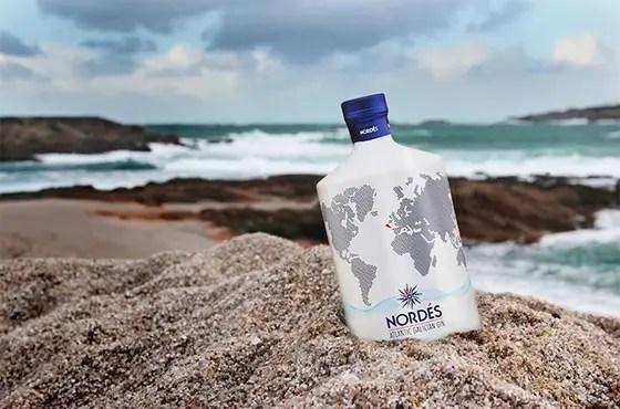 Billede af Nordes gin der er på stranden