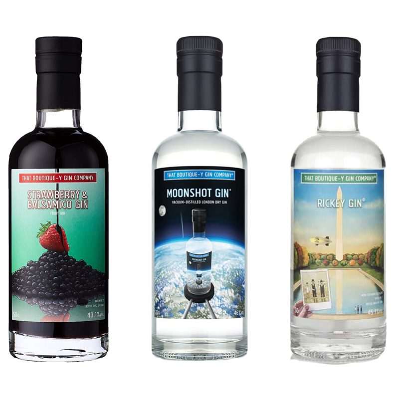 Billede af 3 flasker gin