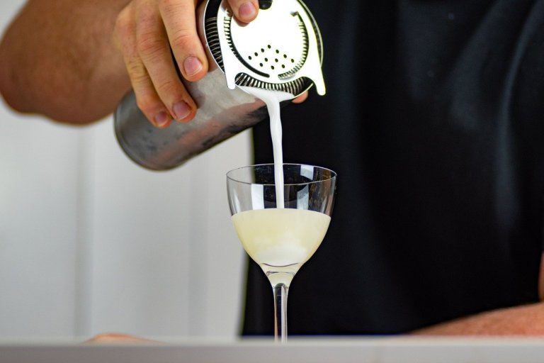 cocktail, sour, lime