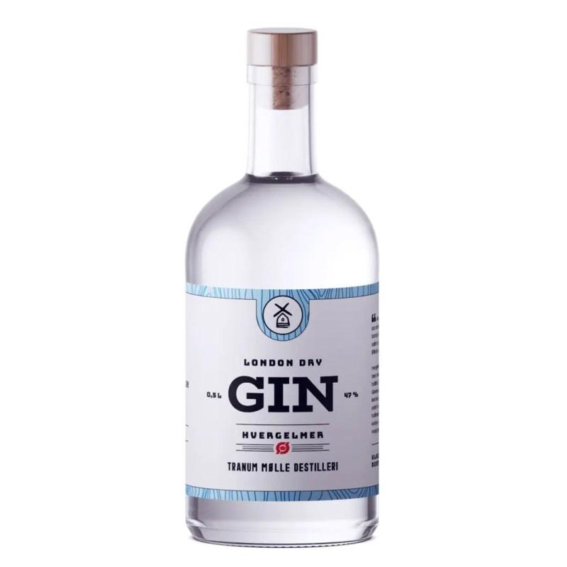 Billede af en flaske Tranum Mølle Hvergelmer Gin