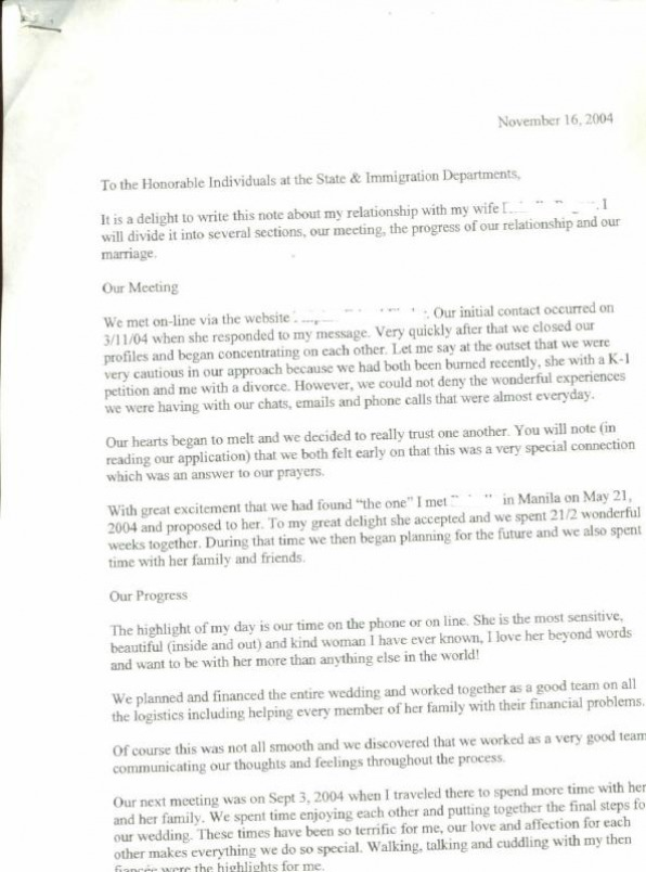cover letter for citizenship application