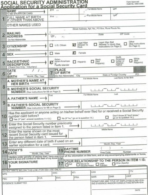 Watch more like Social Security Card Application Form – Social Security Administration Form