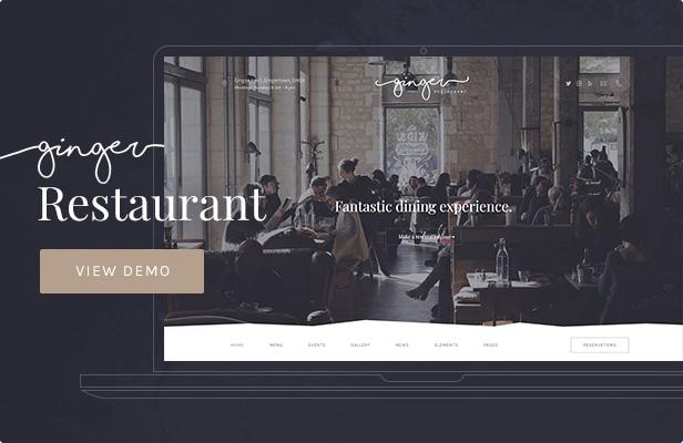 Ginger — Restaurant WordPress Theme