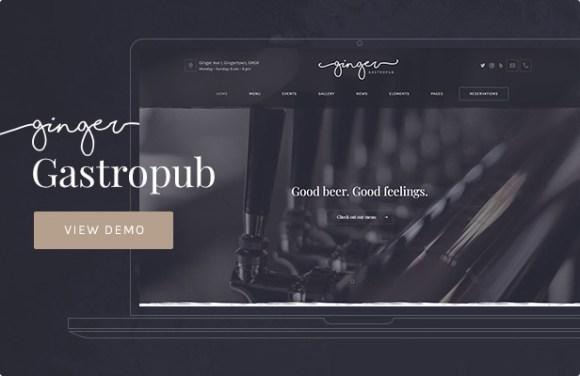 Ginger — Gastropub WordPress Theme