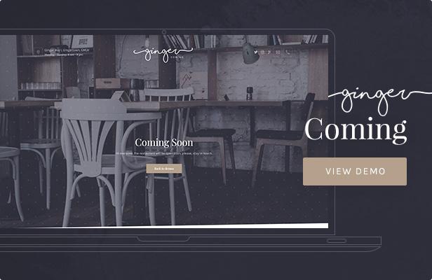 Ginger — Coming WordPress Theme