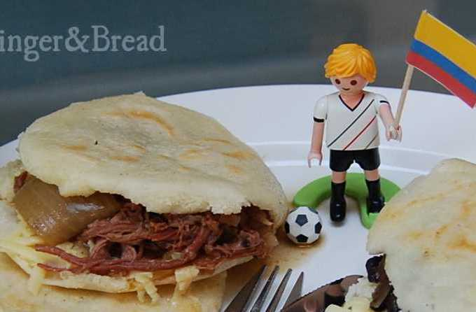 Colombia: Arepas con Carne Desmechada – Fried Cornbread with Pulled Meat